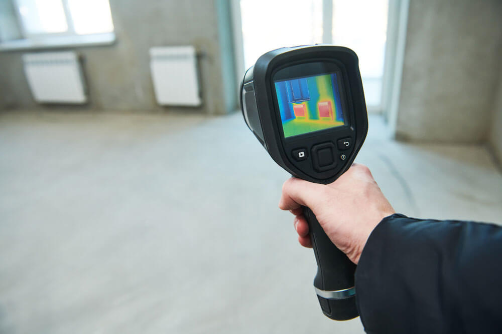 Contractor conducting infrared inspection